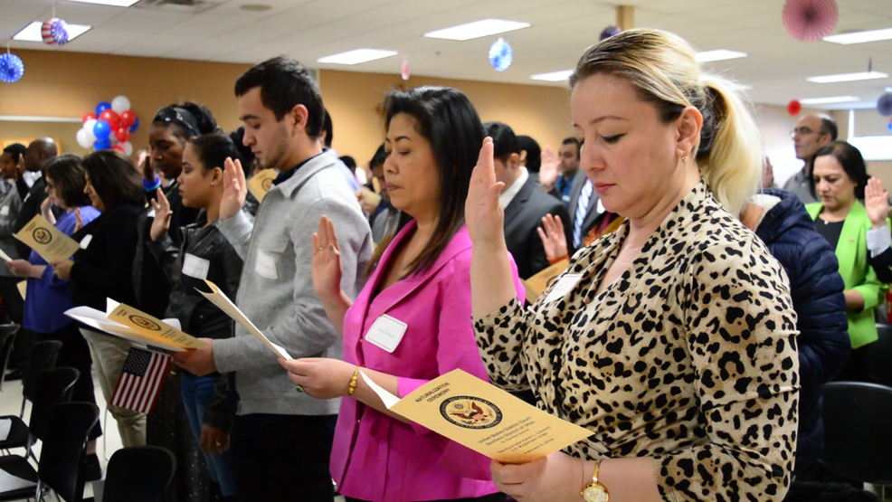 70 people from 38 countries are now Americans after naturalization