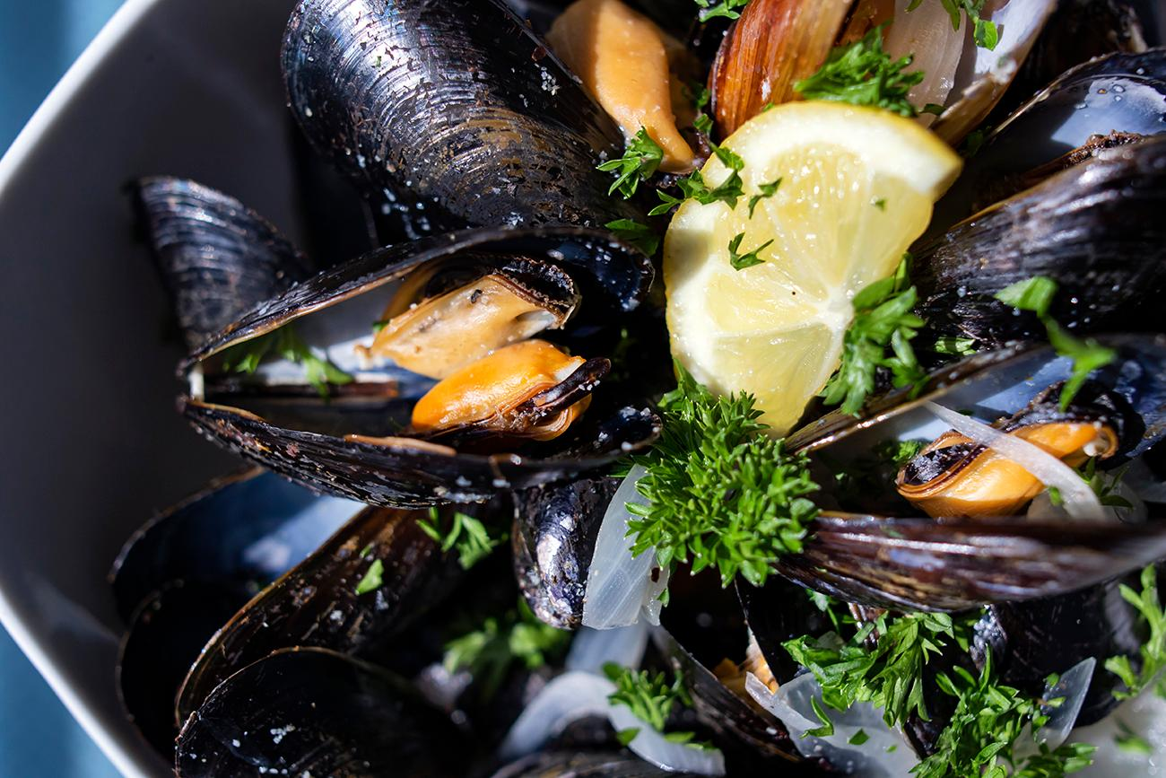 Mussels: steamed with onions, white wine, and cream. / Image: Allison McAdams{ }// Published: 8.19.19