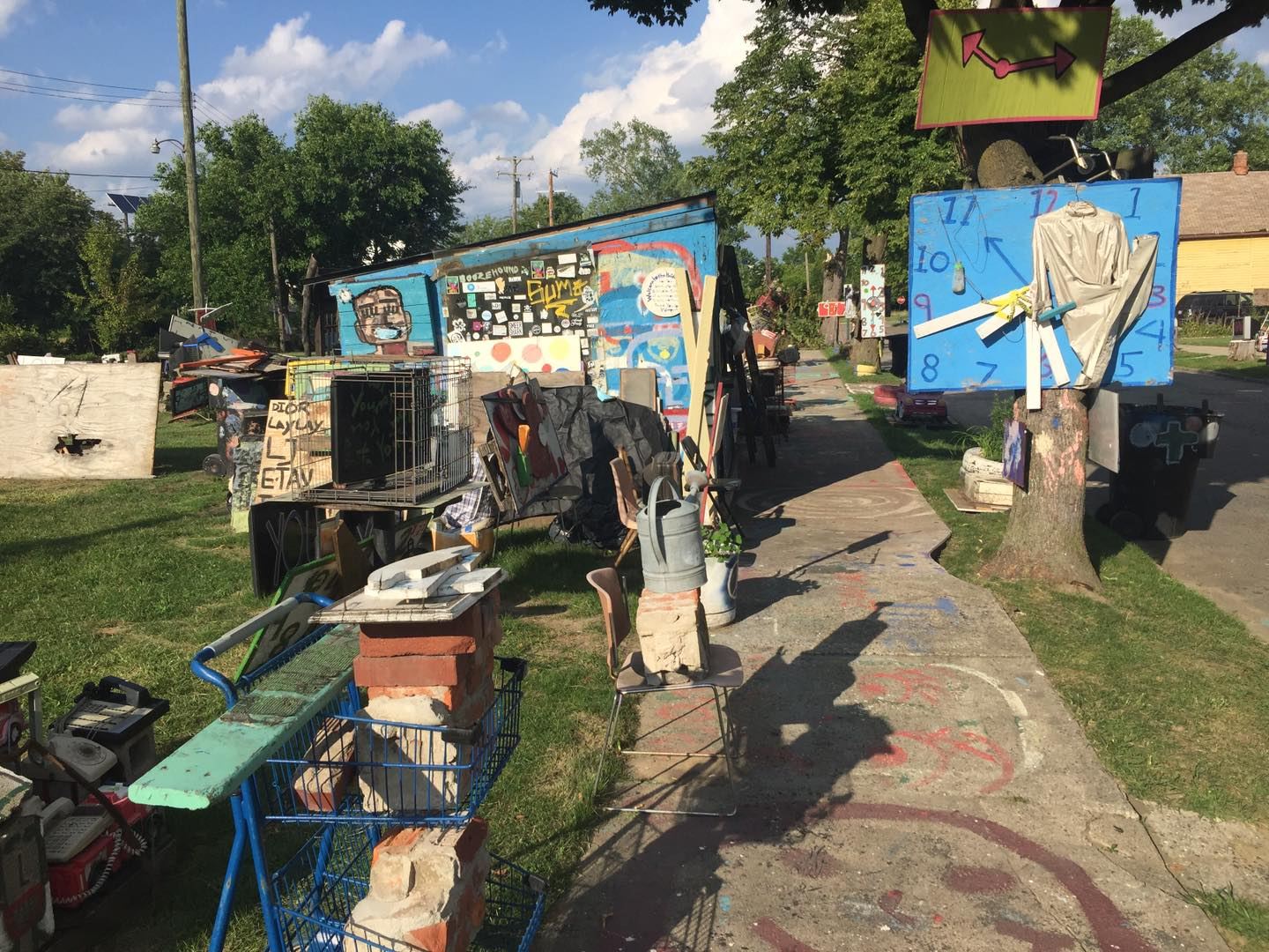 Detroit's Heidelberg Project is a transformative outdoor art installation, which artist Tyree Guyton created in response to blight and crime more than 30 years ago. Pictured Aug. 10, 2020. (Photo credit: Ron Hilliard/Mid-Michigan NOW)