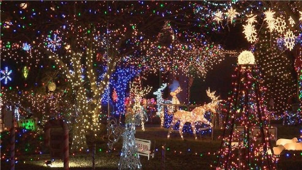 Candy Cane Lane Christmas Decorations Mesmerizing Candy Cane Lane Makes Christmas Brighter  Kvii Design Ideas