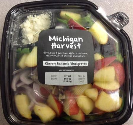The Michigan Harvest Salad was recalled by Meijer.