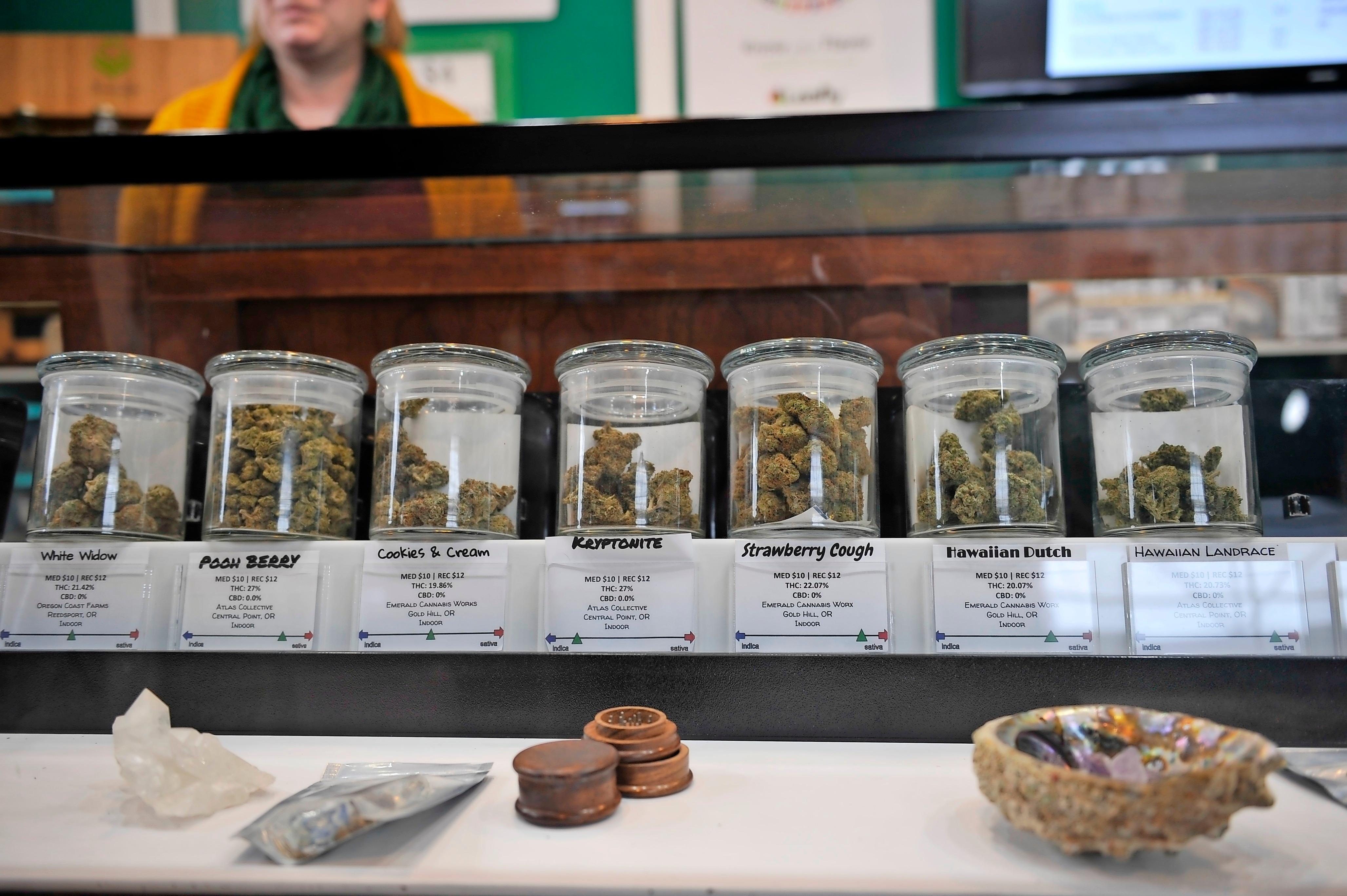Emerald Triangle offers 385 products in-store or for delivery, from flowers to edibles to concentrates. - JAMIE LUSCH / MAIL TRIBUNE
