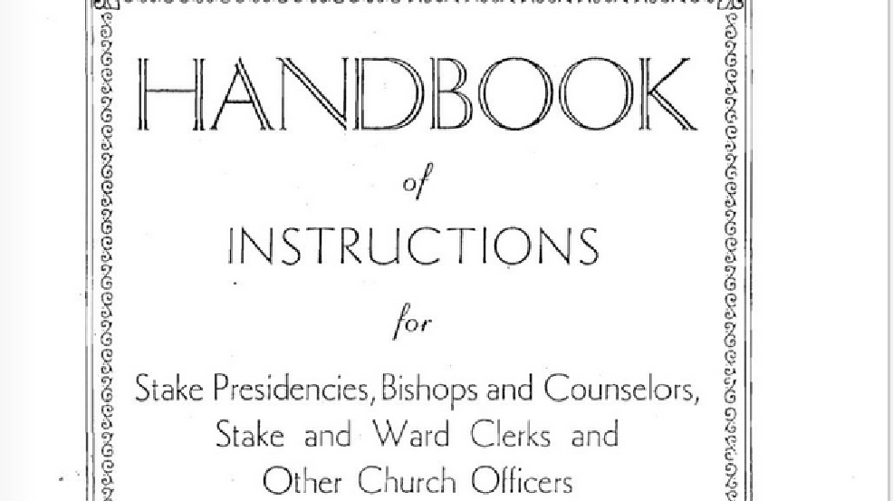 Timeline Of Lds Churchs Handbook Of Instructions Kutv