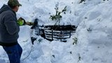 Photos: Driver OK after vehicle gets buried in Idaho avalanche