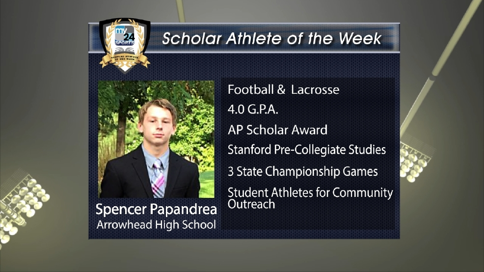2016 Scholar Athlete: Spencer Papandrea