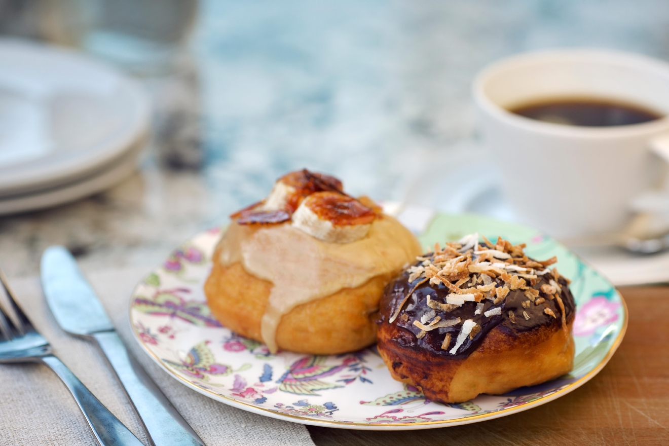 But again if you're jonesing for sugar, the freshly fried doughnuts, such as maple glazed, lemon curd filled and Devil's Food cake, are the way to go. (Image: Ken Fletcher)