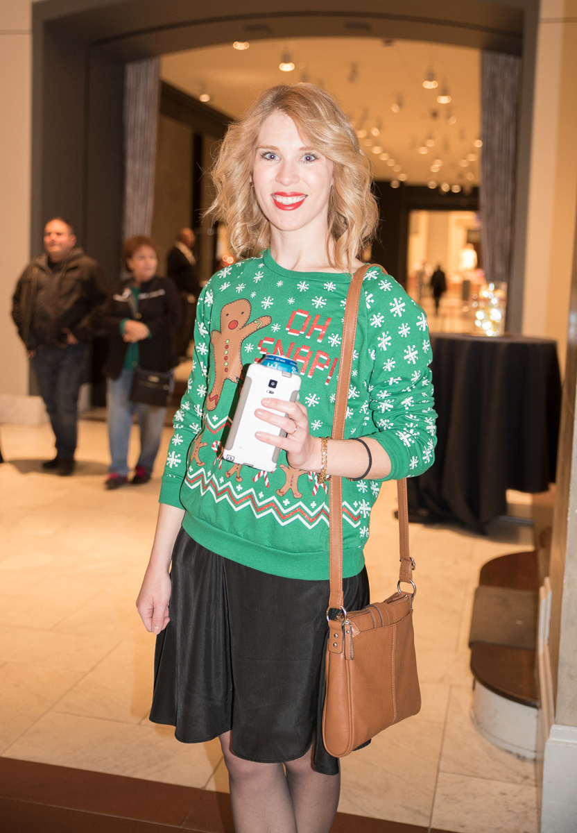 People: Emma Burnch / Event: CAM's Ugly Christmas Sweater Party (12.22.16) / Image: Sherry Lachelle Photography / Published: 1.2.17