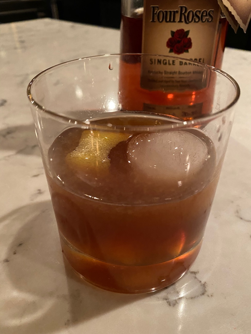 The delicious Hey Honey cocktail at the Cherry Valley Hotel is made with Four Roses Small Batch, honey simple syrup, angostura bitters, and a lemon garnish.{ }ADDRESS: 2299 Cherry Valley Road, Newark, OH (43055) / Image: Chez Chesak // Published: 2.12.21