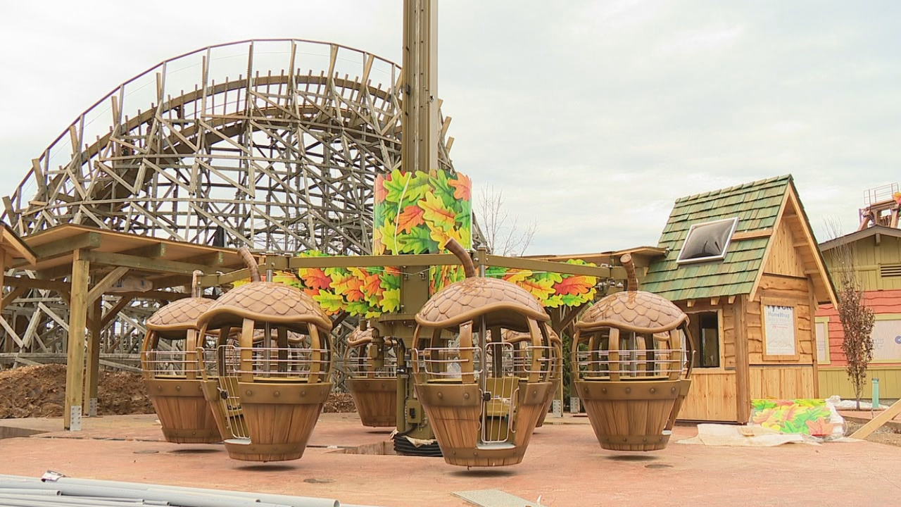 Dollywood is set to unveil its largest expansion ever later this year -- Wildwood Grove. (Photo credit: WLOS staff)