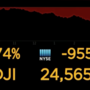 Stocks go on a wild ride: Dow drops 1,175, biggest-ever point drop