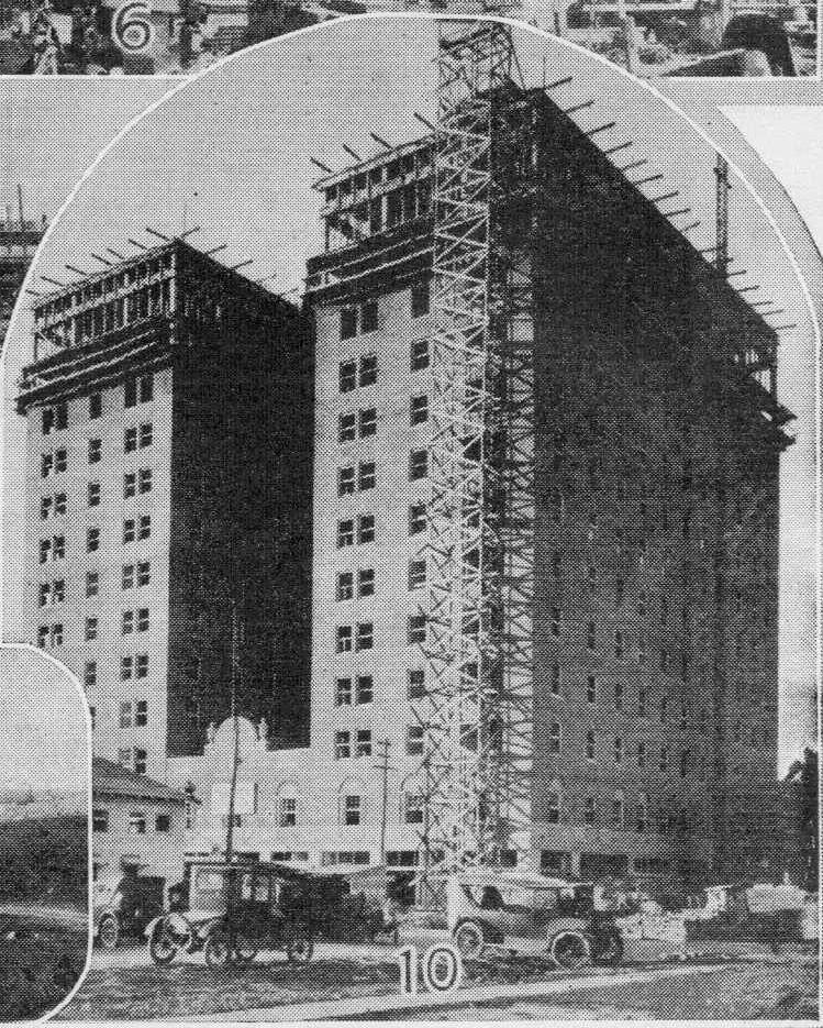 Amarillo's Herring Hotel under construction in the 1920s. (courtesy: Herring Hotel)<p></p>