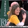Half court shot turns into surprise proposal for Siena alumna