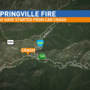 Fire reported in Springville near Camp Nelson