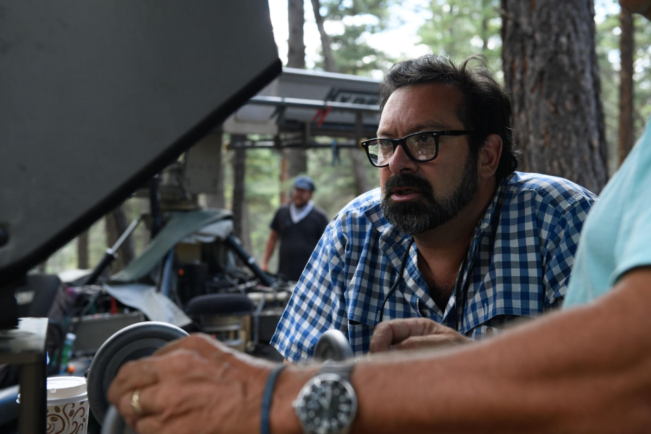 "Director James Mangold on the set of ""Logan.""  Photo: Ben Rothstein."
