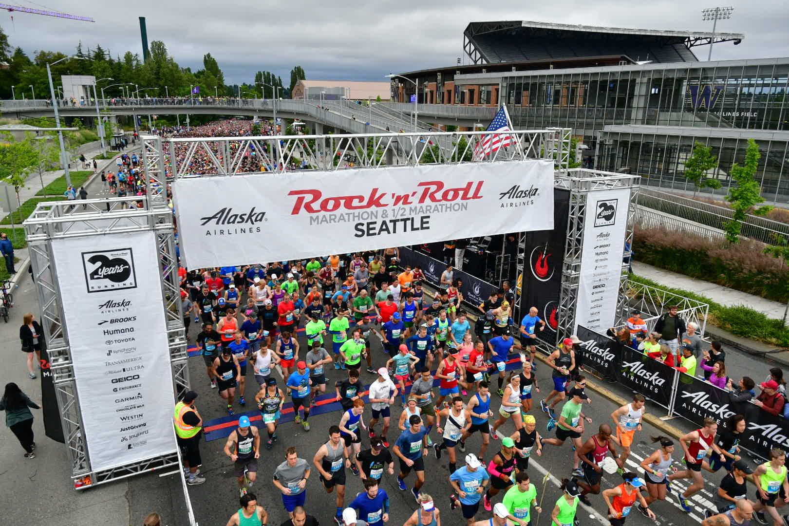 Thousands participated in the Seattle Rock 'n' Roll marathon Saturday. The race started in the University District and ended at CenturyLink Field. Photo courtesy Kevin Morris.
