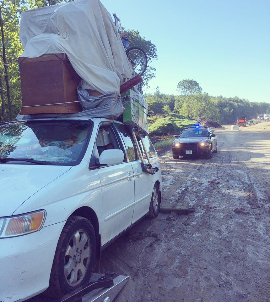 New Hampshire police say they pulled over an unusual van Wednesday morning. (New Hampshire State Police)