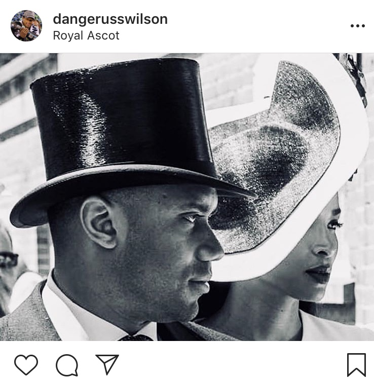 That one time he was pretty much royalty...Happy 30th, Russell! (Image: @dangerusswilson / twitter.com/dangerusswilson)