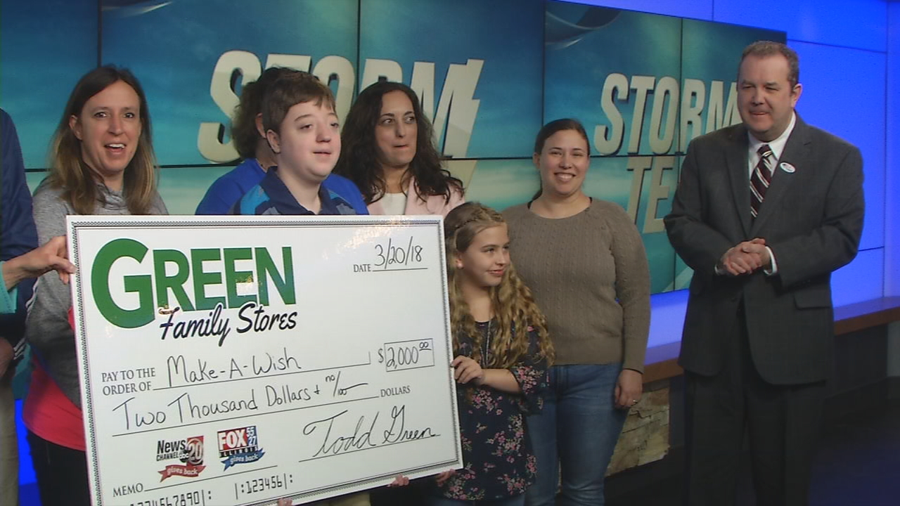 Green Family Stores >> Make S Wish Receives 2k From Green Family Stores Storm Team 20 Wics