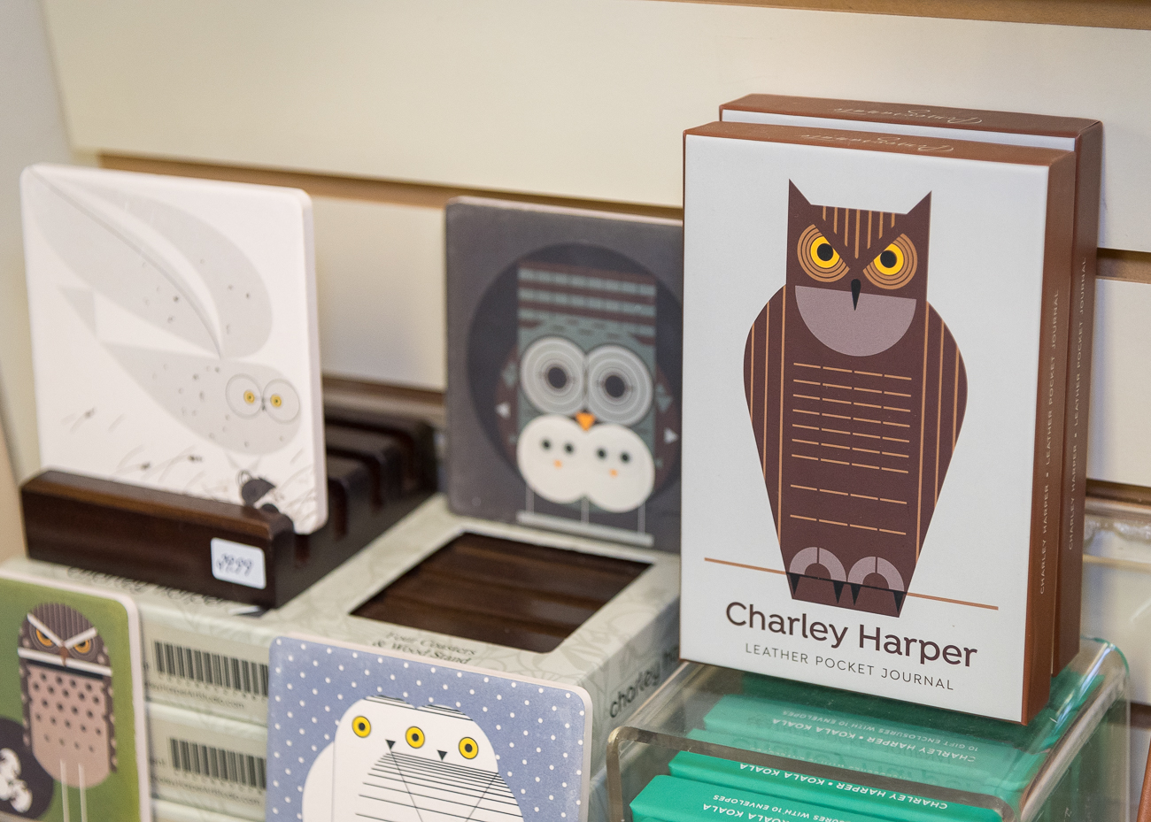 The Shop has a good collection of Charley Harper-branded merchandise. / Image: Phil Armstrong, Cincinnati Refined // Published: 12.13.18