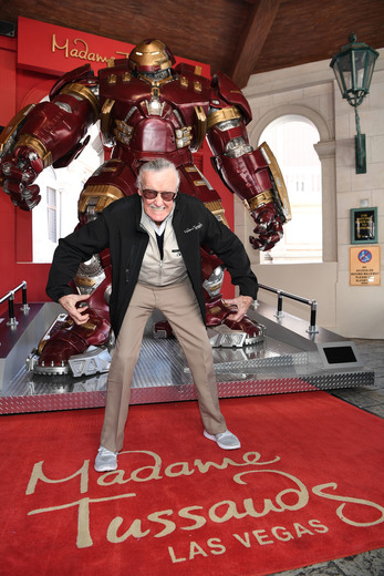 "Madame Tussauds Las Vegas and Stan Lee unveil the brand new Hulkbuster figure on Tuesday, February 28, 2017, at the museum located in front of The Venetian. The Hulkbuster, which made its first appearance in ""Avengers: Age of Ultron,"" smashed its way into the Madame Tussauds front atrium. (Photo provided by Madame Tussauds Las Vegas)"