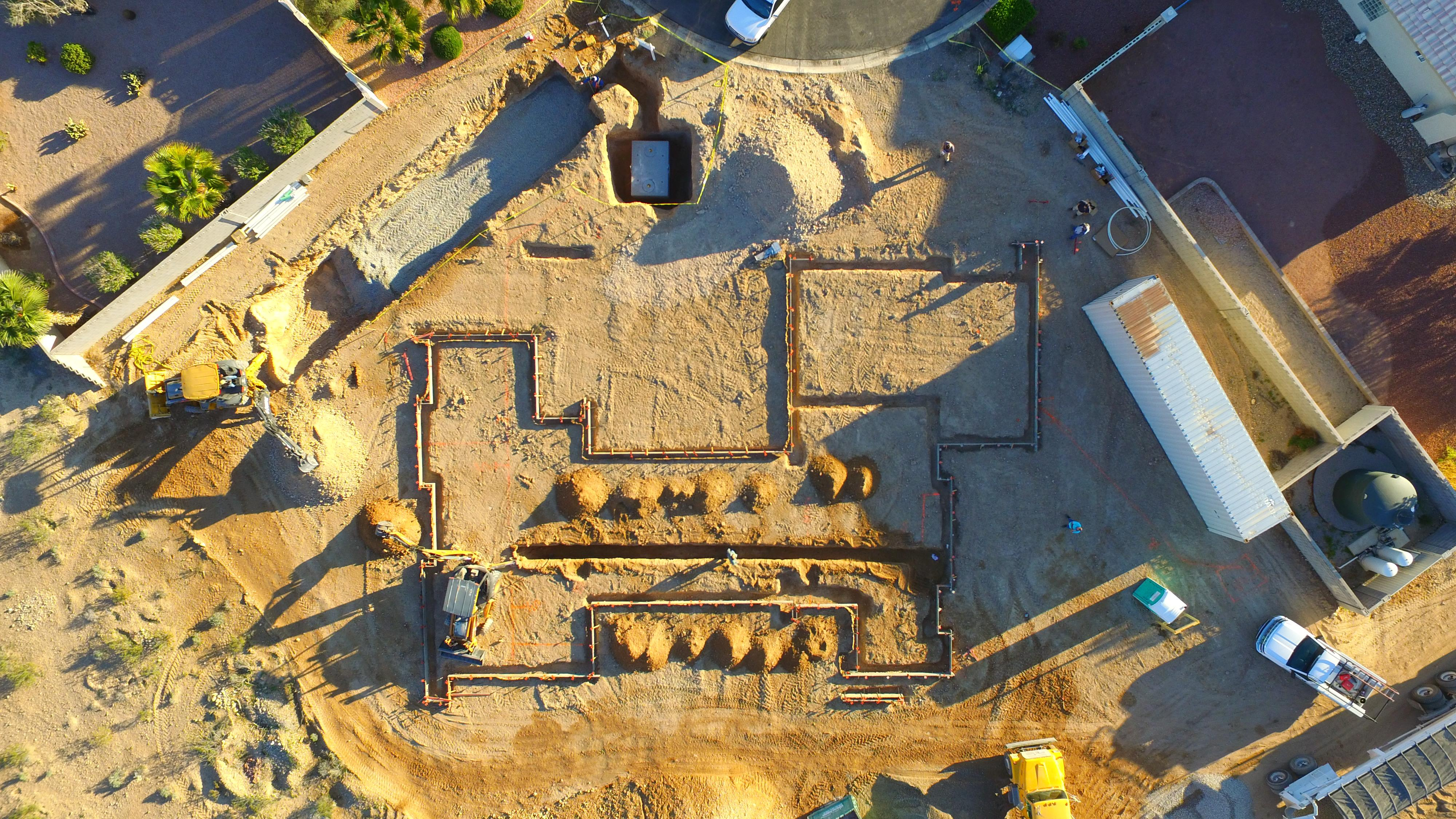 Fourteen days into the construction of the St. Jude's Dream Home. Photo taken by drone on 3/17/2017.  Tickets for a chance to win the home available Wednesday, August 2, 2017 at DreamHome.org (or call 800-378-5386)  (Photo Courtesy Element Building Company)