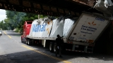 PHOTOS | Walmart truck smashes into overpass
