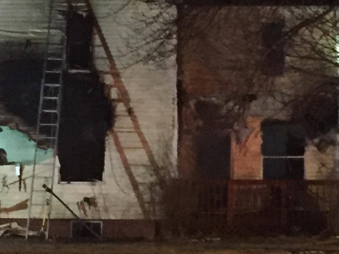 Crews on the scene of a deadly fire in Keystone. (CBS2/FOX28)