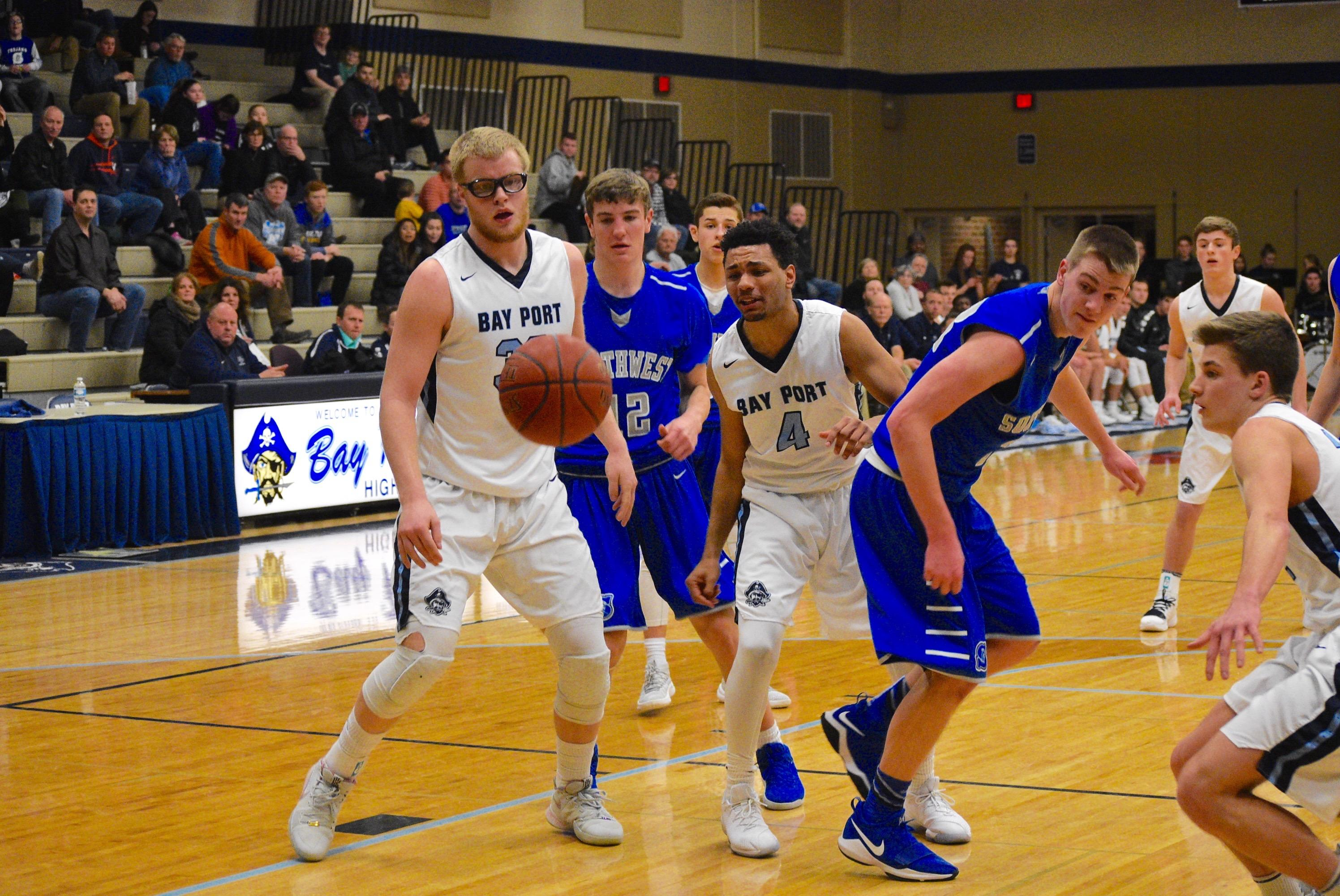 Bay Port defeated Green Bay Southwest, 66-57, on Tuesday night. (Doug Ritchay/WLUK)
