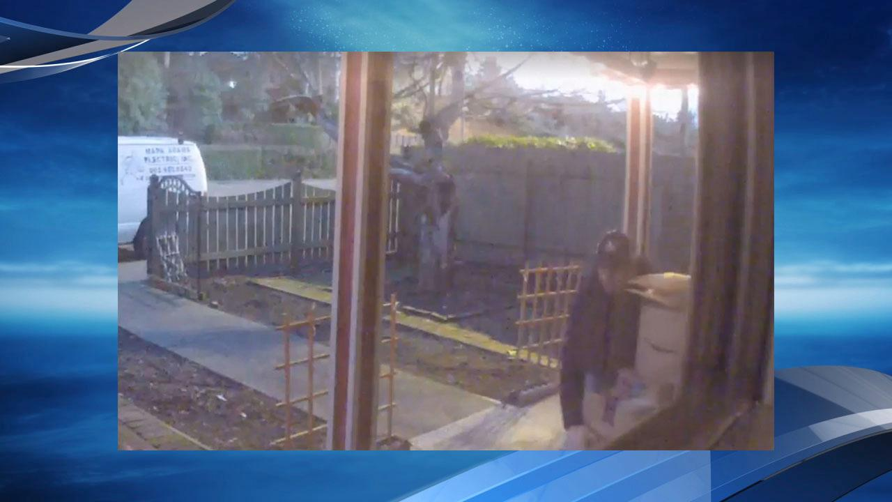 The Unipiper shared a video on on Dec. 12, 2017 of a package theft suspect who stole boxes off his front porch. If you recognize the man in the surveillance video, call Portland Police Bureau. Photo courtesy The Unipiper