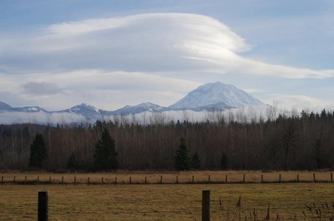 Lenticular Cloud over Mt. Rainier -- (Photo: YouNews contributor: Bonkahoney)
