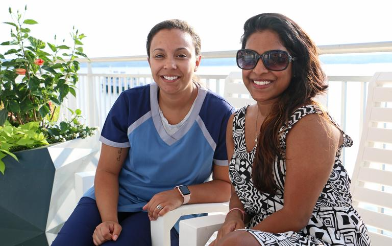 Stephanie  Irizarry and Reshma Puthottu (Image: Jai Williams)