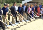 A groundbreaking was held for a new pathway on State Route 28 in east Tahoe on Friday, Aug. 19, 2016. (Sinclair Broadcast Group)