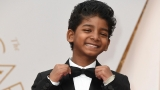 Too cute: 'Lion' star Sunny Pawar steals the show at Oscars 2017