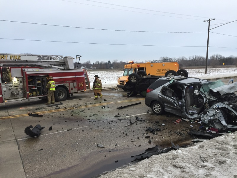 Ballenger Highway is still closed between Miller and Van Slyke Roads Saturday afternoon due to an accident. (Photo Credit: Mike Japowicz)