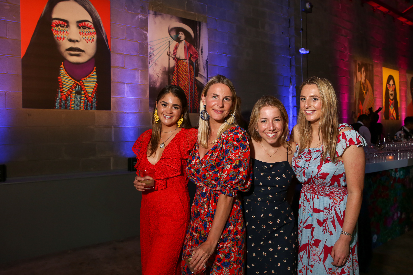 This group of bright frocks at The Phillips Collections' annual party is a lesson on embracing color - we definitely have our eye on the blue-and-red number on the end.{ }(Amanda Andrade-Rhoades/DC Refined)