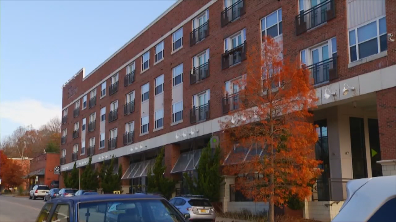 Under city law, any lodging project with more than 20 rooms must get the zoning approval from Asheville City Council before being built. But a proposed ban would change that for the River Arts District. (Photo credit: WLOS staff)
