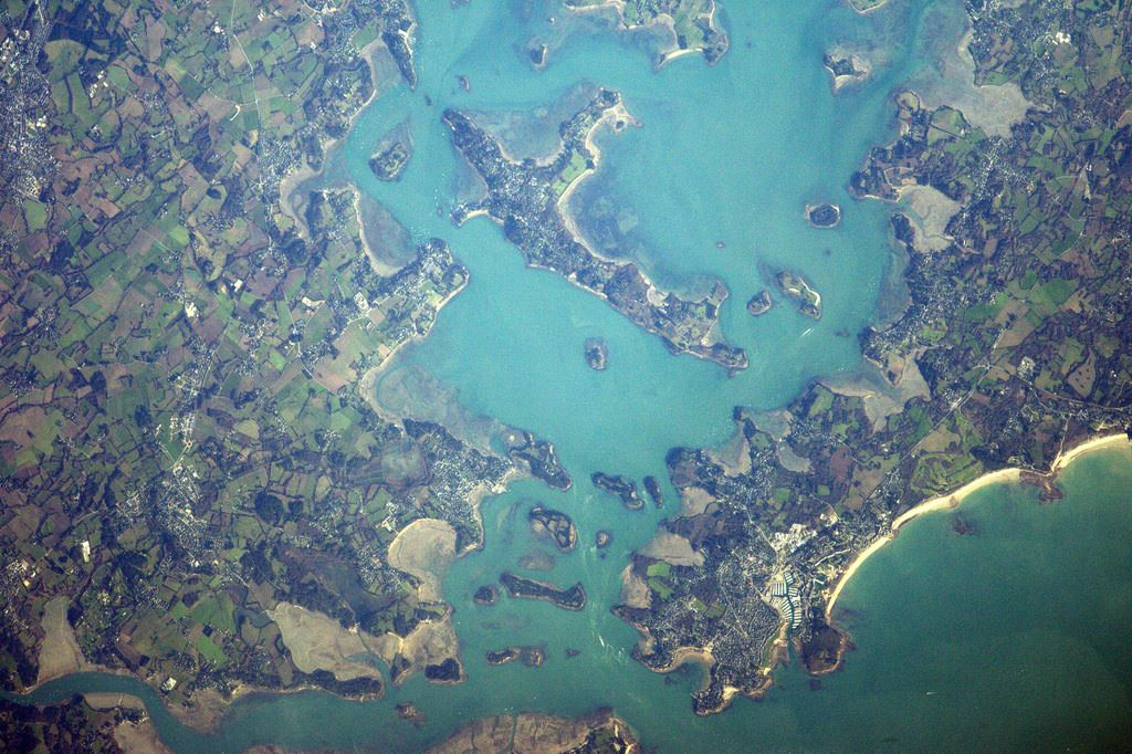 Pastel colours around Port Navalo at the entrance of the Gulf of Morbihan (Photo & Caption: Thomas Pesquet // NASA)
