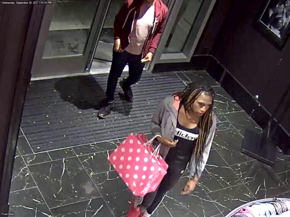 The Cranston Police Department on Thursday, Oct. 12, 2017, released eight new images of thieves who stole nearly $4,000 worth of merchandise from Victoria's Secret in Garden City. (Police photo)