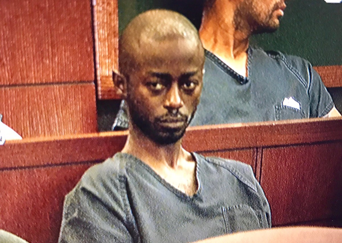 Kenneth Robinson in court Wednesday morning on a murder charge. Police say he is the man who killed a 7-year-old boy this weekend in SW Vegas. 11/2/16 (Kyndell Nunley | KSNV)