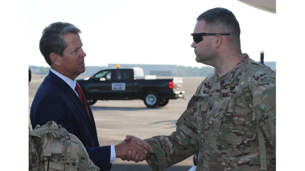 Gov. Kemp welcomes home Macon-based soldiers from Afghanistan