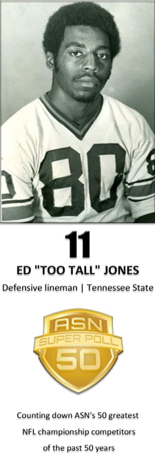 "Ed ""Too Tall"" Jones earned his nickname at Tennessee State because he was too tall for his uniform. (Photos courtesy of TSU Athletics)"