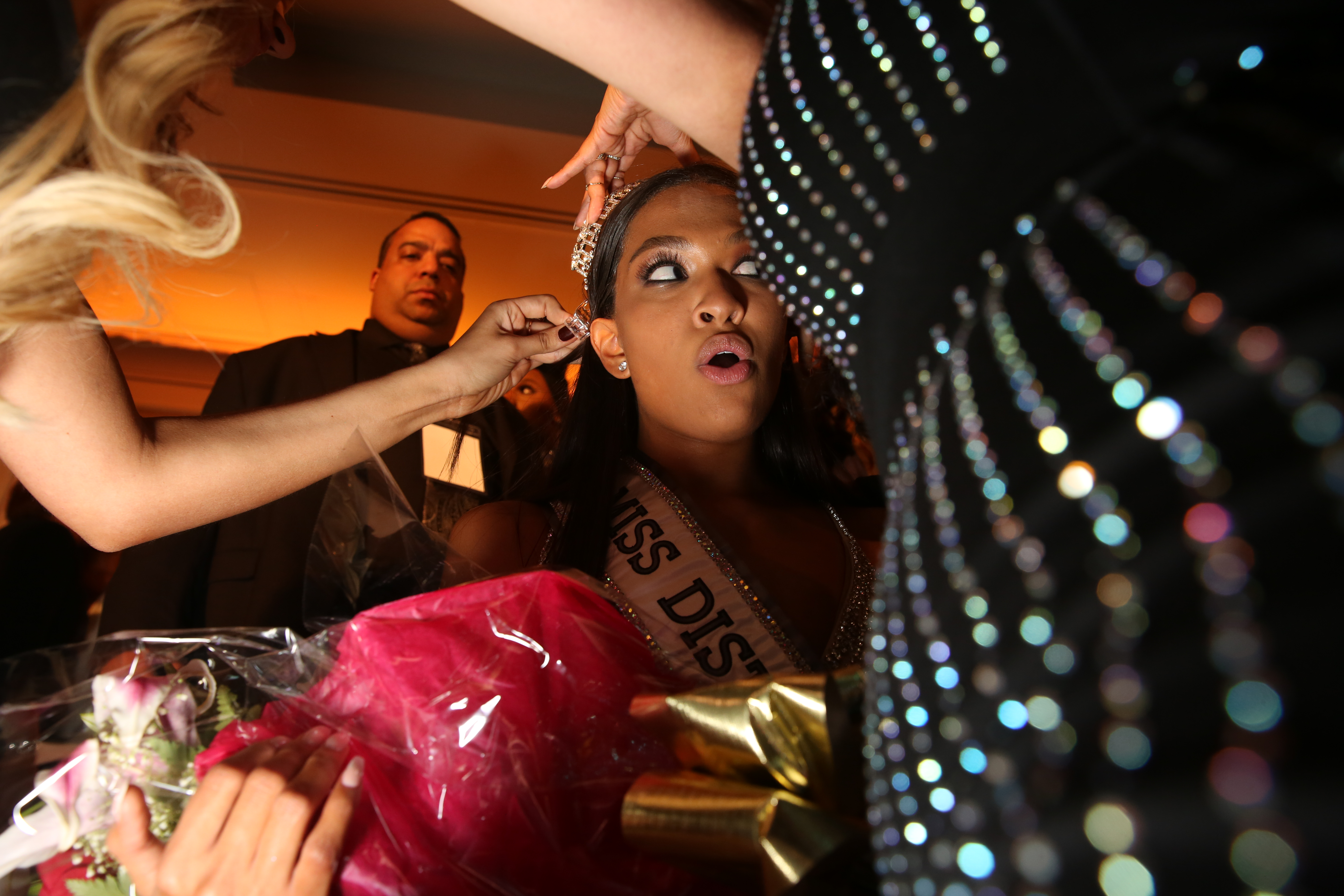 December, 2017. The newly crowned Miss D.C. USA has her tiara adjusted.{&amp;nbsp;} (Amanda Andrade-Rhoades/DC Refined)<p></p>