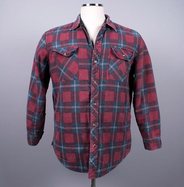 Quilted plaid flannel shirt, about 1991, Ryan Boudinot, owner. Gift of Ryan Boudinot, copyright MOHAI Collection.{ }