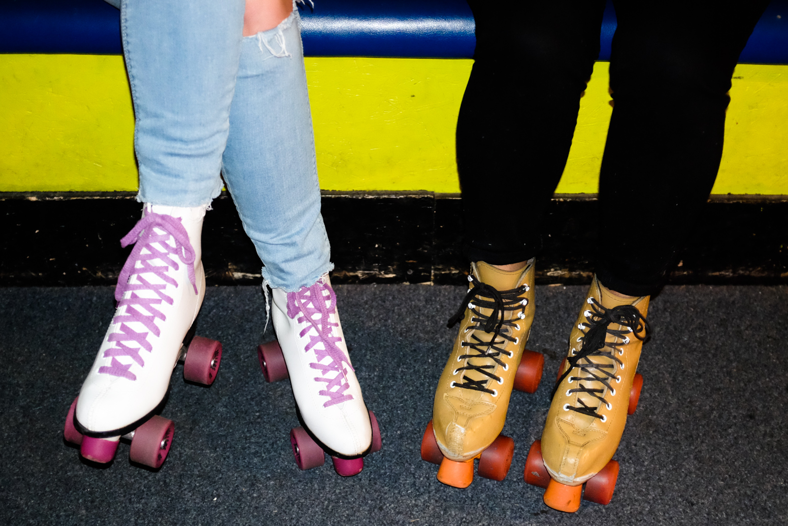 Every second Wednesday of the month from 8:30pm to 12:30pm, Southgate Roller Rink in White Center hosts Skate-a-raoke... and yes - it is exactly what it sounds like: skating around a roller rink with wireless microphone in hand. Sound amazing? Oh it is. $10 gets you in with skate rentals and everything. Southgate Roller Rink is a super throwback spot that'll make you feel like you've been transported back to your middle school skate night days in the very bast way. There's a fully stocked bar in the back (you'll just have to roll down the carpeted ramp in the back) and all kinds of snacks available for purchase including Full Tilt Ice Cream. Check out scenes from July's installation of skate-a-raoke after the jump and be sure not to miss it in August (it falls on the 9th) - it could be a new tradition in the making! (Image: Chona Kasinger / Seattle Refined)