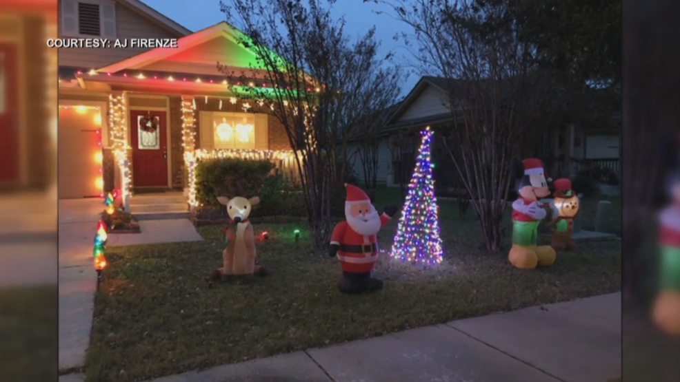 Grinch steals Pflugerville family's Christmas decorations from front yard | KEYE
