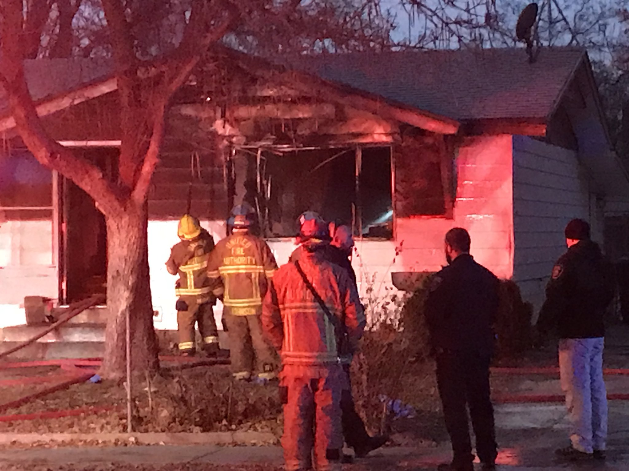 One person in critical condition after two-alarm house fire (Photo: Dan Rascon / KUTV)<p></p>