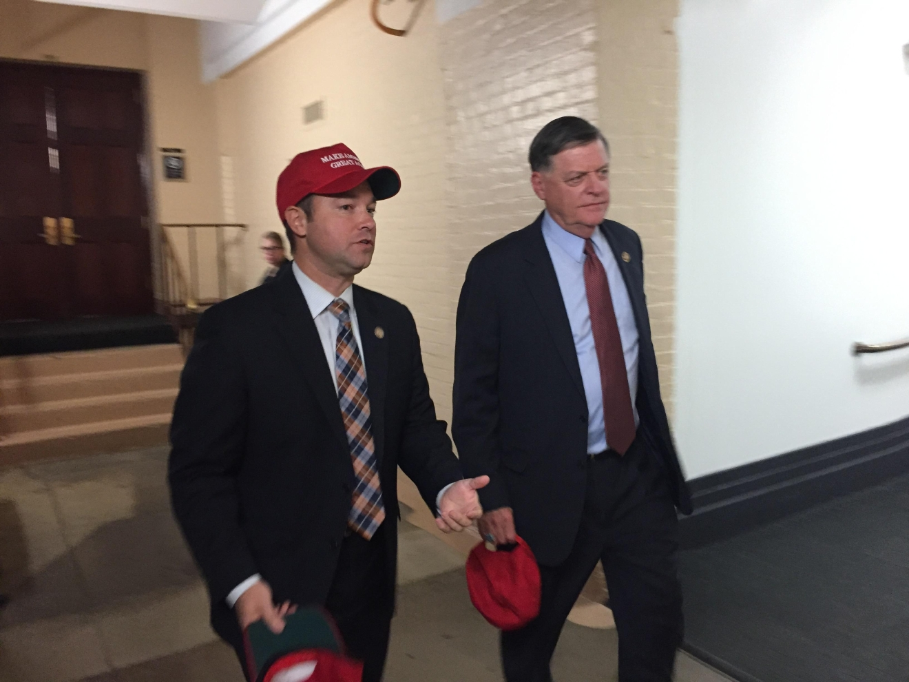 "House GOP leaders were confident Tuesday during a press conference promoting unity in the party - using the president-elect's signature ""Make America Great Again"" hats to make the point. (Sinclair Broadcast Group)"