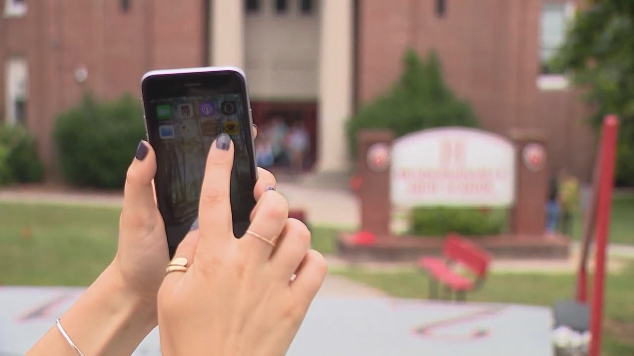 Teens and technology go hand-in-hand,{ } and now students in Henderson County can use their smart devices to help keep their schools safe. (Photo credit: WLOS staff)