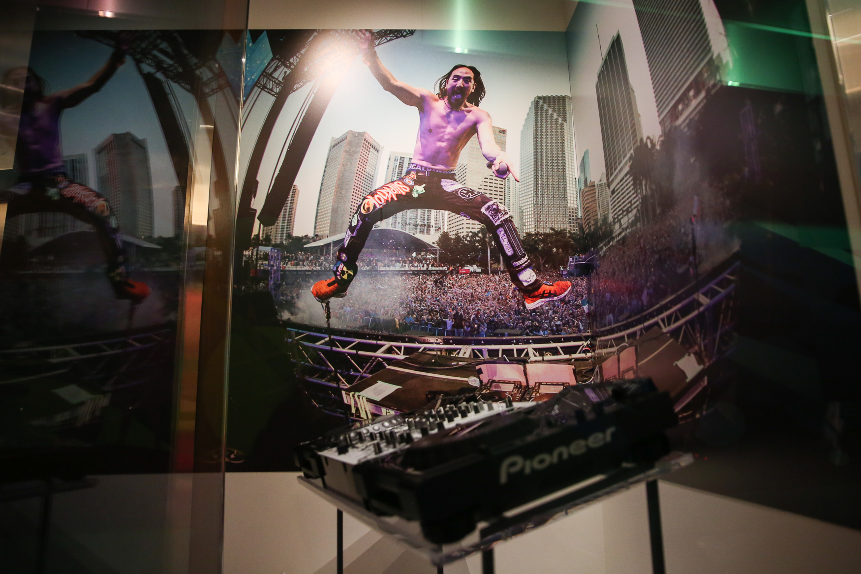 DJ Steve Aoki's turntable and soundboard also have a place in music history now. (Amanda Andrade-Rhoades/DC Refined)<p></p>