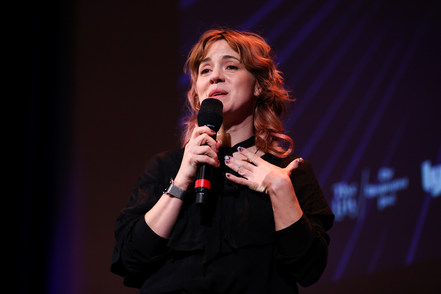 Actress and comedienne Alice Wetterlund{ }performed at The Bentzen Ball on October 28. (Amanda Andrade-Rhoades/DC Refined)